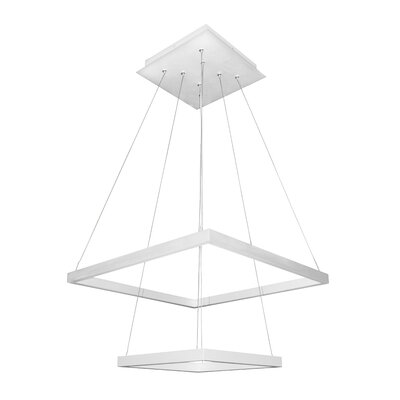 Donovan 5-Light LED Geometric Pendant Finish: White