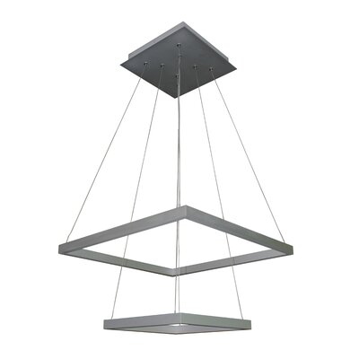 Donovan 5-Light LED Geometric Pendant Finish: Satin Nickel