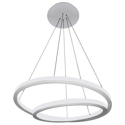Marcelo Duo LED Geometric Pendant Shade Color: White