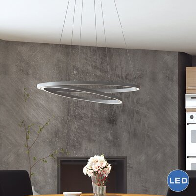 Marcelo Duo LED Geometric Pendant Shade Color: Silver