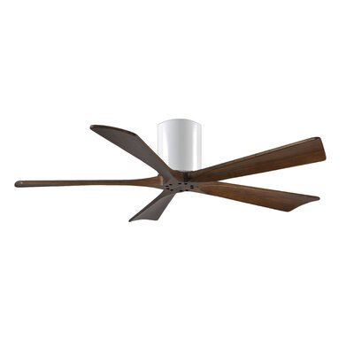 52 Rosalind 5 Blade Hugger Ceiling Fan Finish: Matte Black Finish with Barn Wood Tone Blades