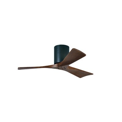 42 Rosalind 3 Blade Hugger Ceiling Fan Finish: Matte Black