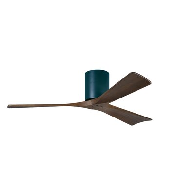 52 Rosalind 3 Blade Hugger Ceiling Fan Finish: Matte Black