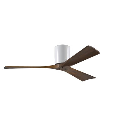52 Rosalind 3 Blade Hugger Ceiling Fan Finish: Gloss White