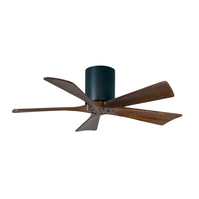 42 Rosalind 5 Blade Hugger Ceiling Fan Finish: Matte Black