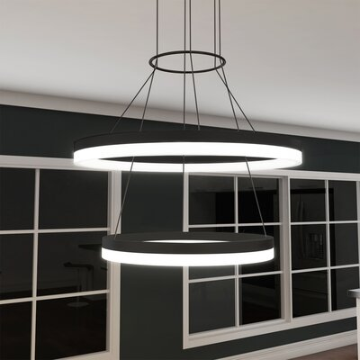 Marcelo Dup 2-Light Drum Pendant