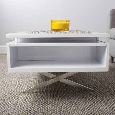 Seraphina White Lift-Top Rectangular Coffee Table