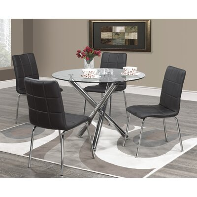 Azaiah 5 Piece Dining Set Color: Black