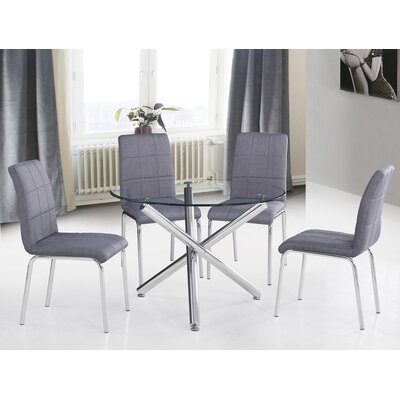 Azaiah 5 Piece Dining Set Color: Gray