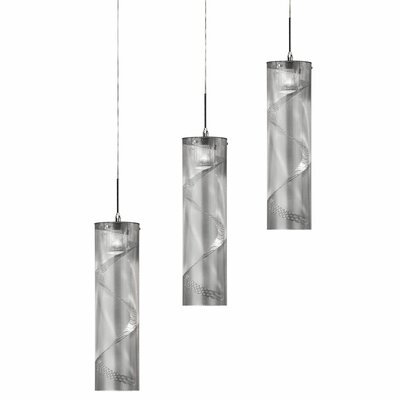 Isberga Contemporary 3-Light Cascade Pendant