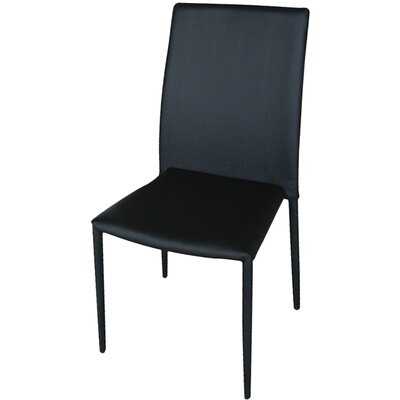 Carmine Dining Side Chair (Set of 4) Finish: Black