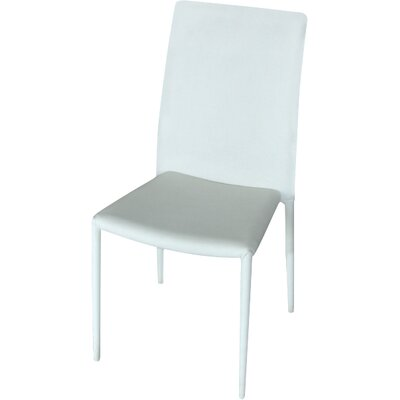 Carmine Dining Side Chair (Set of 4) Finish: White