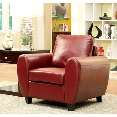 Nona Armchair Color: Red