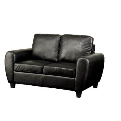 Nona Loveseat Upholstery: Black