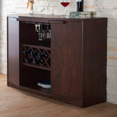 Xanthene Bar with Wine Storage Finish: Vintage Walnut