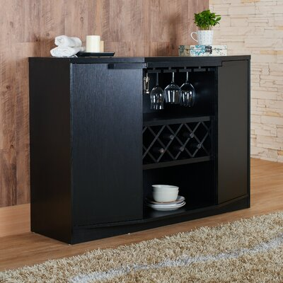 Xanthene Bar with Wine Storage Finish: Black