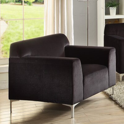 Trystan Armchair Upholstery: Black