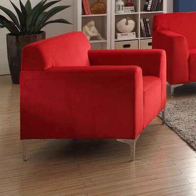 Trystan Armchair Upholstery: Red