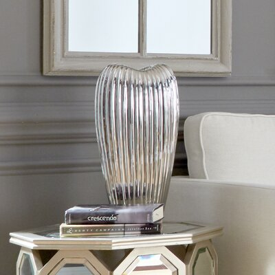 Ribbed Electroplated Ceramic Vase WADL4789 28204308