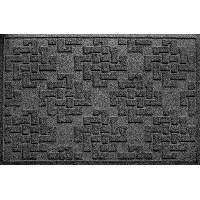 Mendez Rectangle Doormat Color: Charcoal