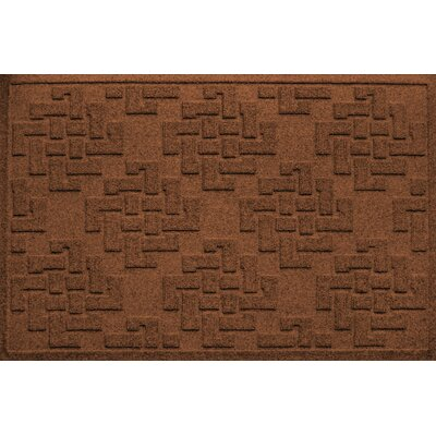 Mendez Rectangle Doormat Color: Dark Brown