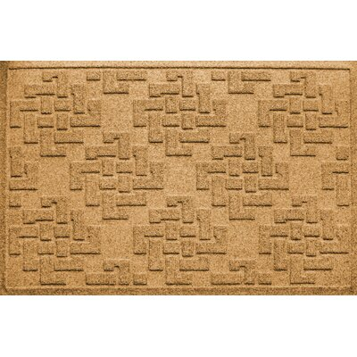 Mendez Rectangle Doormat Color: Gold