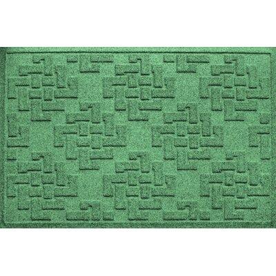 Mendez Rectangle Doormat Color: Light Green