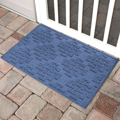 Mendez Rectangle Doormat Color: Navy