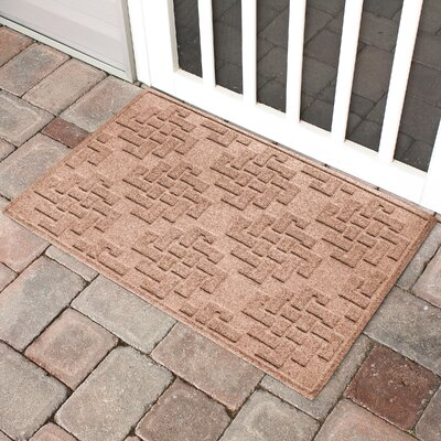 Mendez Rectangle Doormat Color: Medium Brown