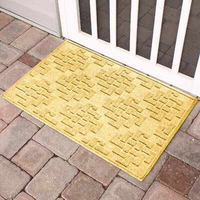 Mendez Rectangle Doormat Color: Yellow