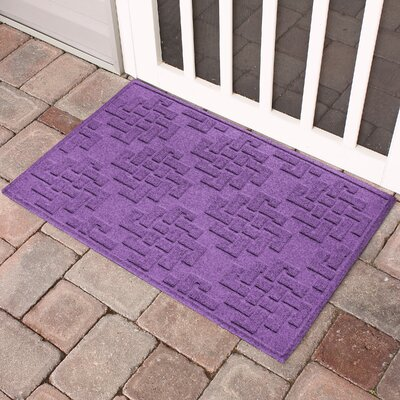 Mendez Rectangle Doormat Color: Purple