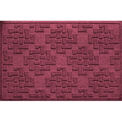 Mendez Rectangle Doormat Color: Bordeaux