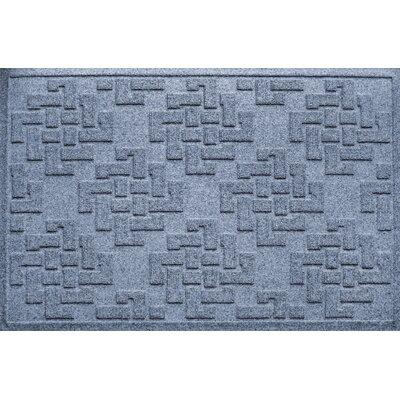 Mendez Rectangle Doormat Color: Bluestone