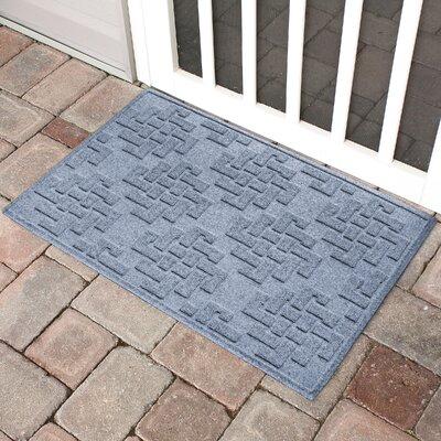 Mendez Rectangle Doormat Color: Bluestone