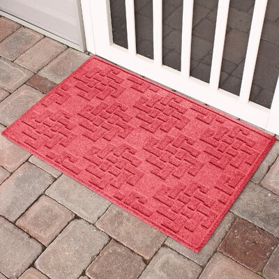 Mendez Rectangle Doormat Color: Solid Red