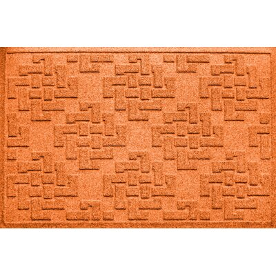 Mendez Rectangle Doormat Color: Orange