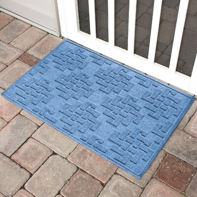 Mendez Rectangle Doormat Color: Medium Blue