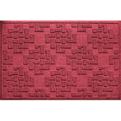 Mendez Rectangle Doormat Color: Red/Black