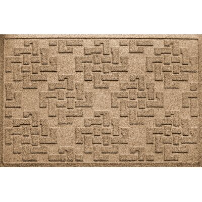 Mendez Rectangle Doormat Color: Camel