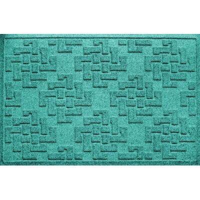 Ilana Jasper Doormat Color: Aquamarine