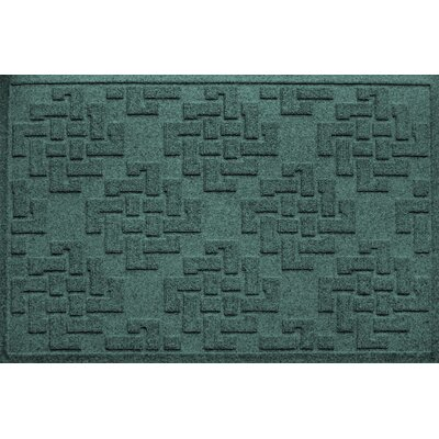Mendez Rectangle Doormat Color: Evergreen