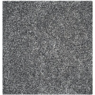 Anna Hand-Tufted/Hand-Hooked Charcoal Area Rug Rug Size: Square 5