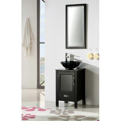 Quintana 19 Single Bathroom Vanity Set Base Finish: Black