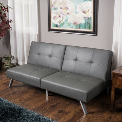 Zandra 2 Seat Sleeper Sofa Upholstery: Gray