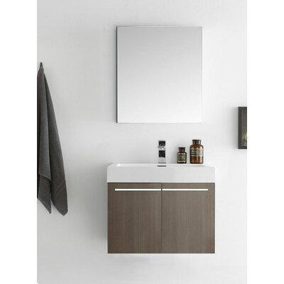 Senza 23 Alto Single Wall Mounted Modern Bathroom Vanity Set with Mirror