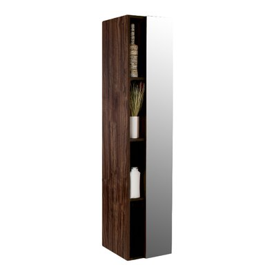 Senza 16 x 67 Bathroom Linen Cabinet Finish: Walnut
