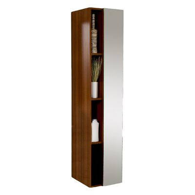 Senza 16 x 67 Bathroom Linen Cabinet Finish: Teak