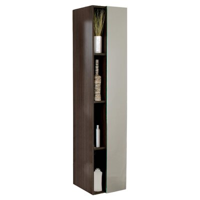 Senza 16 x 67 Bathroom Linen Cabinet Finish: Black