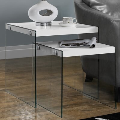 Liberty 2 Piece Nesting Tables Color: White