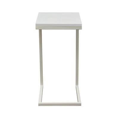 Sondra End Table Color: White